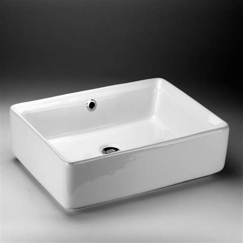 Home Depot Sink Bathroom by Acri Tec Rectangular Countertop Vessel Sink The Home