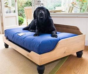 berkeley raised wooden dog bed english oak uk made With dog bed frames for large dogs