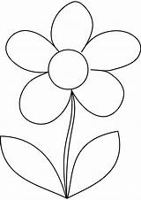 Coloring Flower Daisy Printable Template Sheets Templates Flowers Preschool Colouring Drawing Pattern Stencils Patterns Painting Daisies Adult Quilt Leaf Visit sketch template