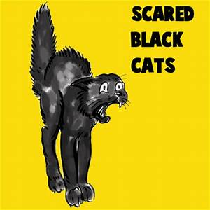How to Draw a Scary Scared Black Cat with Easy Steps ...