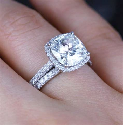 3 84 ct cushion cut platinum halo engagement ring f vs1 egl new ebay