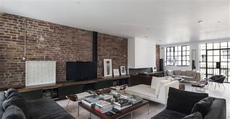 eposed brick wall ideas  living rooms decor
