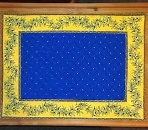 Set De Table Jaune : set de table cadre 48x35 cm calissons olivettes bleu jaune smuk bl d kkeserviet med gul ~ Teatrodelosmanantiales.com Idées de Décoration