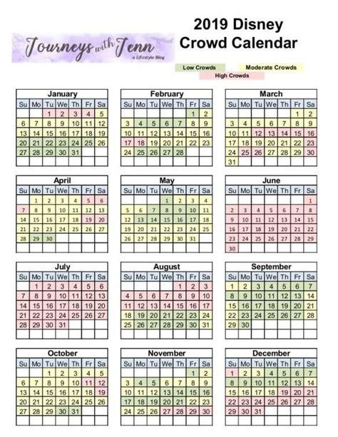 walt disney world crowd calendar plan week visit