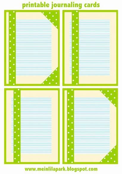 Journaling Cards Printable Lined Summertime Ausdruckbares Freebies
