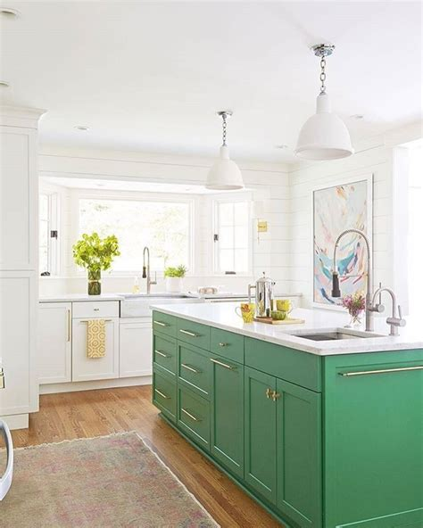 green kitchen islands we re a green with envy that this isn t our kitchen 1416
