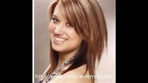 Coupe Cheveux Tete Ronde : coiffure femme visage rond les tendances coupe de cheveux face ronde youtube ~ Melissatoandfro.com Idées de Décoration