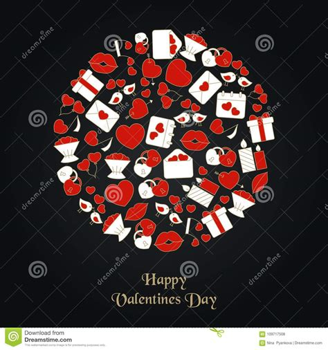 valentines day background stock vector illustration