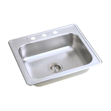 25 stainless steel kitchen sink glacier bay drop in stainless steel 25 in 4 hole single