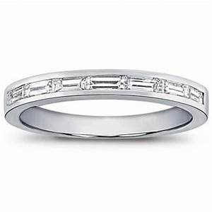 075 Ct Ladies Baguette Cut Diamond Wedding Band