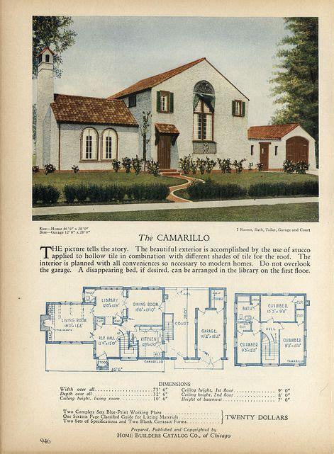 antique spanish house plans 1928 home builders catalog daily bungalow flickr vintage bungalow house design