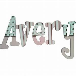avery pink and brown hand painted wall letters With paintable wall letters