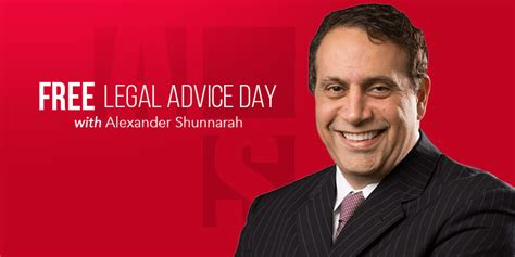 alexander shunnarah set  give  legal advice