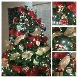 christmas tree mesh ribbon ho ho holidays pinterest