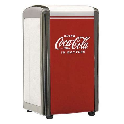 A cola dispenser that gives out one cola is available when players first start level 1 in the corn dog van. Coca Cola Napkin Dispenser CC342 Retro Official USA Branded