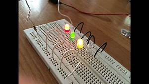 How To Connect A L E D In Series To A Breadboard