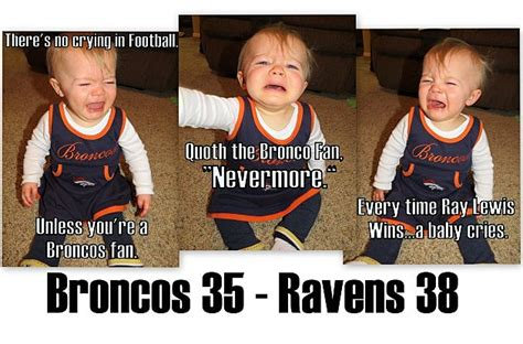 Broncos Losing Meme - justin bieber baby baby memes for broncos season ending loss to the ravens