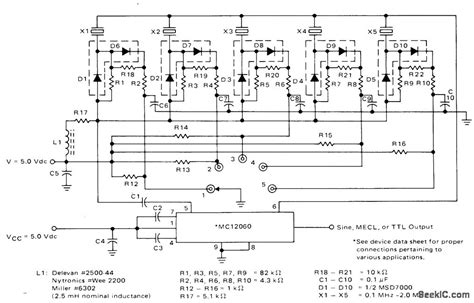 Crystal Switching Diodes Basic Circuit Diagram