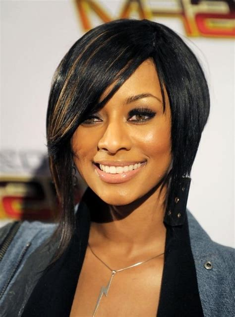 Images Of Black Hairstyles With Bangs by 15 Best Of Bob Hairstyles For Black With Sleek Bangs