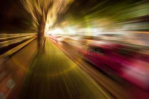 Abstract Zoom Blur Of Night Scene Road Stock Photo - Image ...