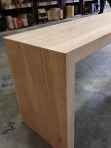 Custom Made White Oak Waterfall Bench By House Of Hardwood