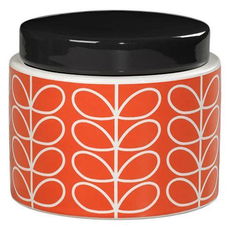 orange kitchen storage jars orla kiely small storage jar orange at home 3764