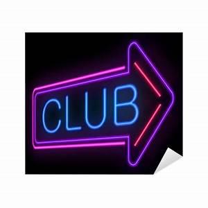 Neon Club sign Sticker • Pixers • We live to change