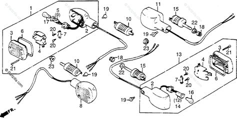 honda motorcycle 1984 oem parts diagram for turn signal partzilla