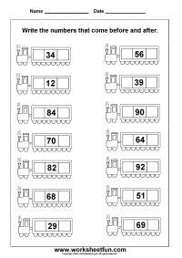 numbers  worksheets atividades de