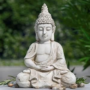 Buddha Statue Im Garten : buddha statue outdoor frostsicher im lotussitz beige grau gewischt ~ Bigdaddyawards.com Haus und Dekorationen