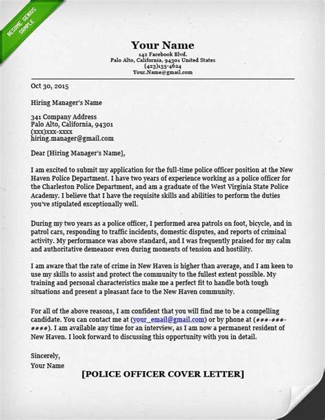 resume genius police officer cover letter writing guide