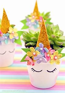 Unicorn Planter - Magical DIY Succulent Plant Pot Idea