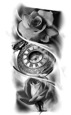 Pocketwatch and Roses by mmpninja on DeviantArt | Things I'm Drawn To... | Pinterest | Pocket