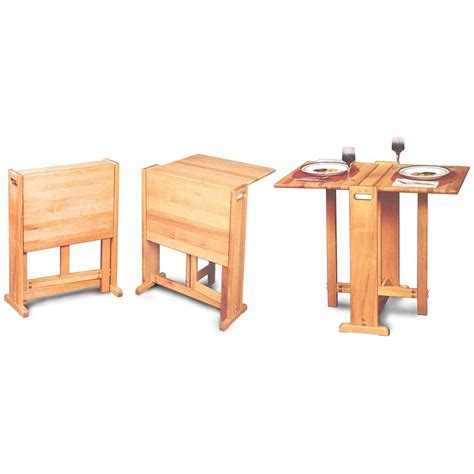 Fold Away Butcher Block Table   110210, Kitchen & Dining