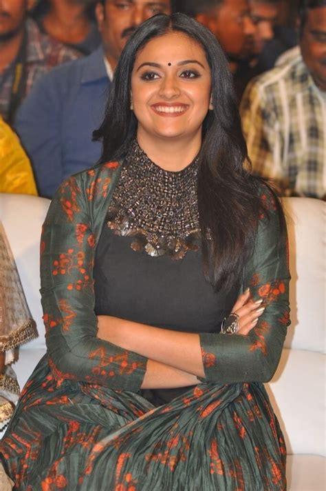 Keerthy Suresh Black Dress Photos At Latest Audio Event