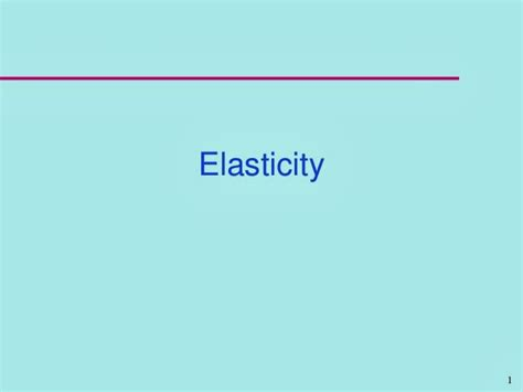 THREE APPLICATIONS OF SUPPLY DEMAND AND ELASTICITY
