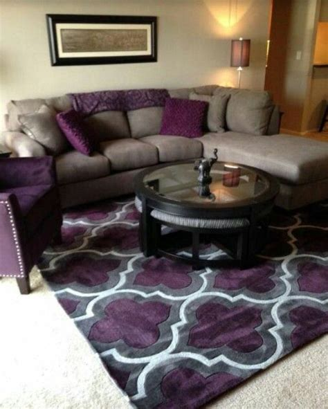 plum sofa decorating ideas i want this rug living room pinterest rugs gray and