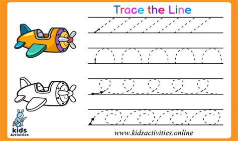 tracing lines worksheets   year olds kids