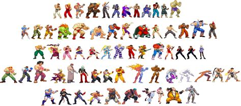 Image Street Fighter All Characters Unscaled
