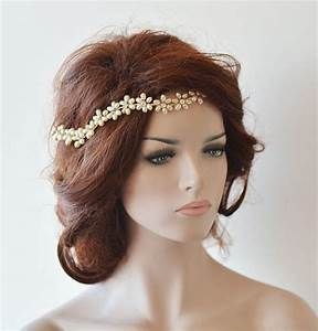 Wedding Headband Bridal Pearl Hair Vine Bridal Headband
