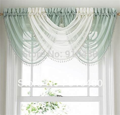 Hang Waterfall Valance Curtains by Luxury Bead Sheer Curtain Valance Waterfall Curtain