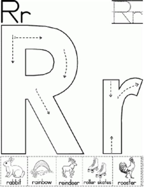 Letter R Worksheets For Kindergarten  Preschool And Kindergarten