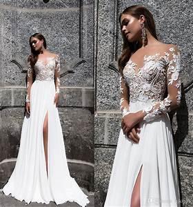 milla nova magnolia 2017 jewel neck long sleeve sexy With sexy vintage wedding dress