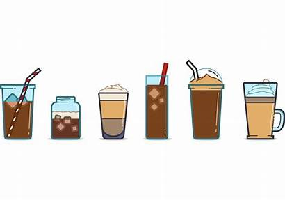 Iced Coffee Cup Ice Vectors Cafe Cream