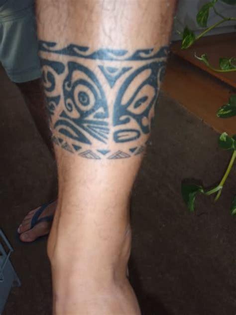 awesome leg band tattoos