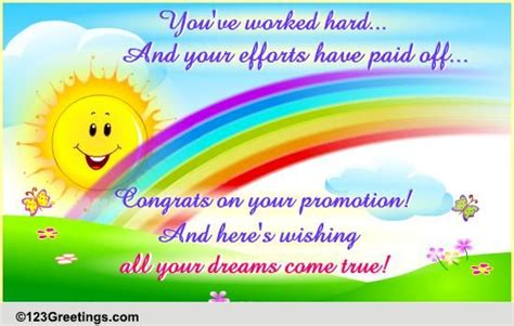 congratulations promotion cards  congratulations