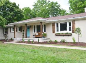 Decorative Brick Ranch House by Lowe S Home Exterior Makeover Reveal Beneath My