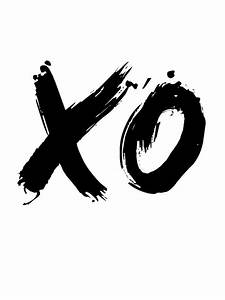 Xo Poster White Digital Art by Naxart Studio