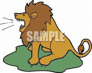 Clipart Image: A Lion Roaring | Clipart Panda - Free ...