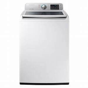 Samsung 4 5 Cu  Ft  High-efficiency Top Load Washer In White  Energy Star-wa45m7050aw